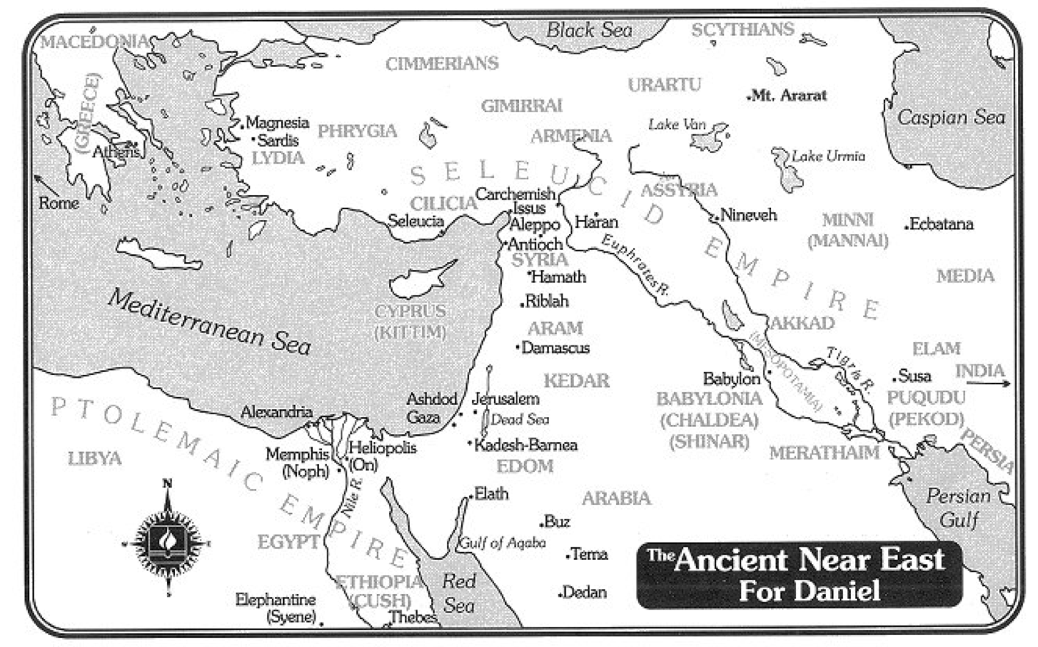 Map for Book of Daniel