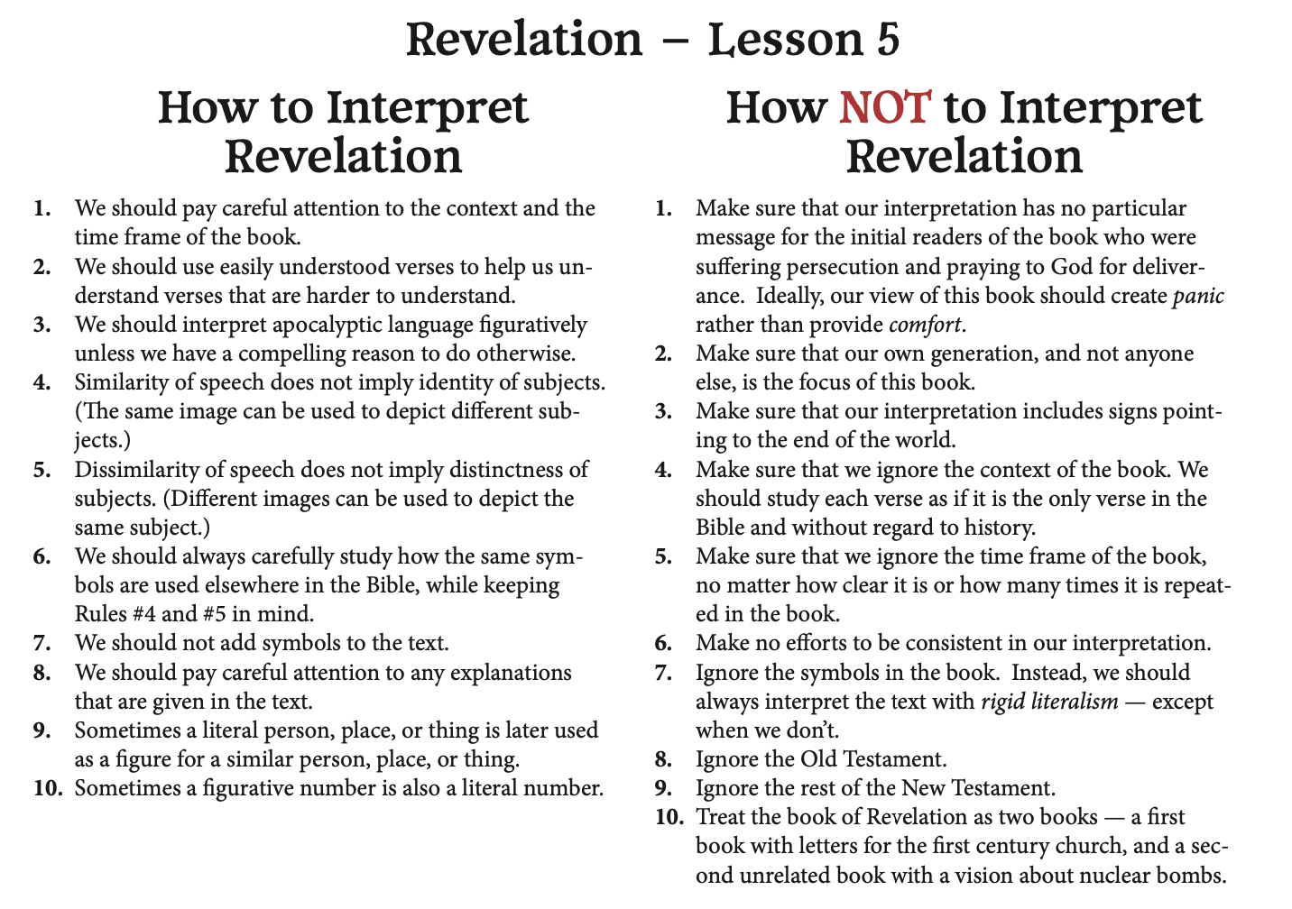 How NOT to Interpret Revelation