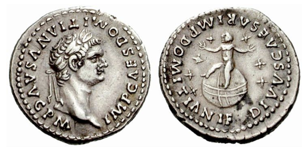 Domitian Coin with Seven Stars